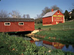 Red Mail Pouch barn and Covered Bridge