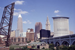 Cleveland, Ohio Skyline view from the Flats