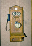 This ancient telephone, early 1900's can be found  at the bradshaw Post office, Buffalo Gap Tx