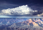 A large thunderhead forms over the north rim of the Grand Canyon in summer. Yaki Point