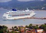 Cruise Ship in Port of Roatan, Honduras.