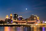 Cincinnati skyline at night from the Oho River