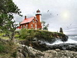 Lighthouse at Eagle Harbor on Lake Superior