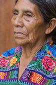 Older Guatemalan woman in tradtional dress