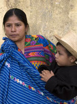 Guatemalan woman with young son