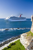Spanish Fort and towers in San Juan, Puerto Rico