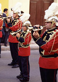 Horn blowers in a parade