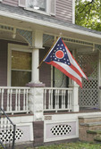 State of Ohio  flag on porch