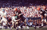 Running back Jim Brown of Cleveland Browns vs. The Philadelphia Eagles in the 1960's
