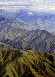 Aerial Afghan landscape from helicopter