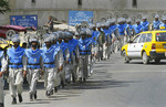 Afghanistan Land Miners going to work to find and help disarm land mines