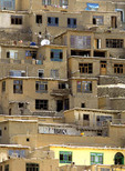 Hillside houses in Kabul, Afghanistan