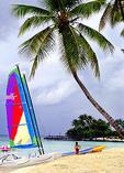 Sailboat on Beach in Dominican Republic