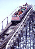 Rollercoaster at The Pavalion in Myrtle Beach