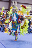 Male fancy dancer competes at the Temoke Pow Wow, Elko, NV