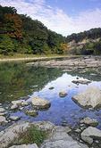 Rocks along the shore of the Vermilion River