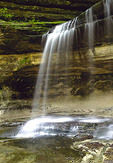 A cascade at the LaSalle Canyon waterfalls