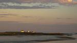 Goat Island Lighthouse at sunset
