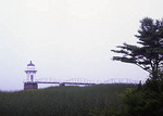 Doubling Point Lighthouse on a foggy day