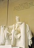 Lincoln statue inside the Lincoln Memorial