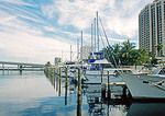Yachts berthed at Florida City of Fort Meyers Yacht Basin