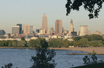 View of Cleveland, Ohio from Edgewater Park.