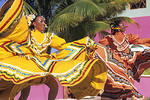 Colorful Mexican Dancers Performing in Costume