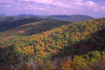 Fall scenic of the Appalachian Mountains in Shenandoah National Park.