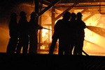 University of Nevada Fire Science Academy does a night burn