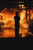 University of Nevada Fire Science Academy doing a night burn.