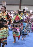 Native American dancers in the Grand Entry at Temoke Pow Wow, Elko, NV