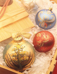 Christmas ornaments bieng unpakced