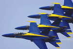 US Blue Angles flying in formation