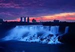Niagara Falls at sunrise.