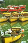Fishing Tenders in Looe harbour, England