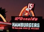 First McDonald's Museum with orginal sign