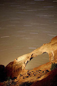 Landscape Arch star trails.