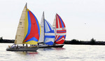Sailboat race on Lake Erie in Cleveland, Ohio.