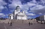 The Lutheran cathedral on the highest point in Helsinki, Finland.