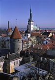 View of Tallinn's old town from the castle, Estonia.