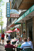Alfresco dining on Murray Hill Road in Cleveland, Ohio.