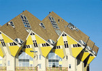 Yellow cube houses in Holland.
