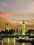 Big Ben at night in London.