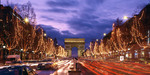 Christmas lights in Champs Elysees in Paris.