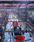 Production line in a car factory in England.