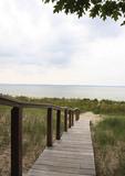 Walkway to Lake Michigan beach.