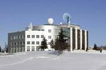 University of Alaska surrounded by snow in Fairbanks, Alaska.