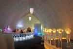 Ice hotel interior in Chena Hot Springs, Alaska.