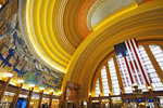 Art deco design of the interior of the Ohio Museum Center formally the  Union Terminal
