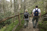 Hikers on the Appalachian Trail in Great Smokey Mountains National park